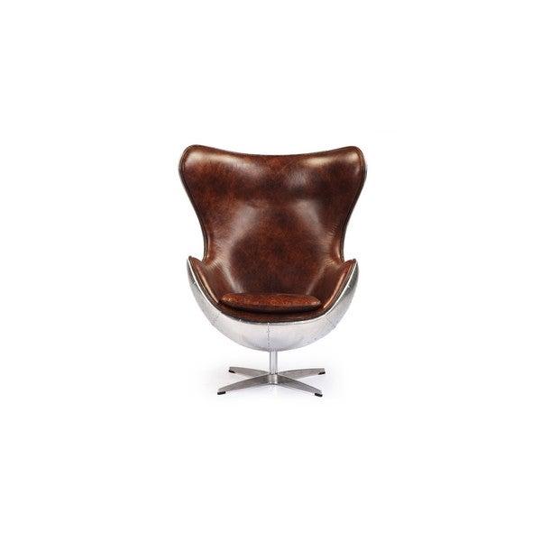 Shop Kardiel Steampunk 1958 Brown Leatherette Egg Chair