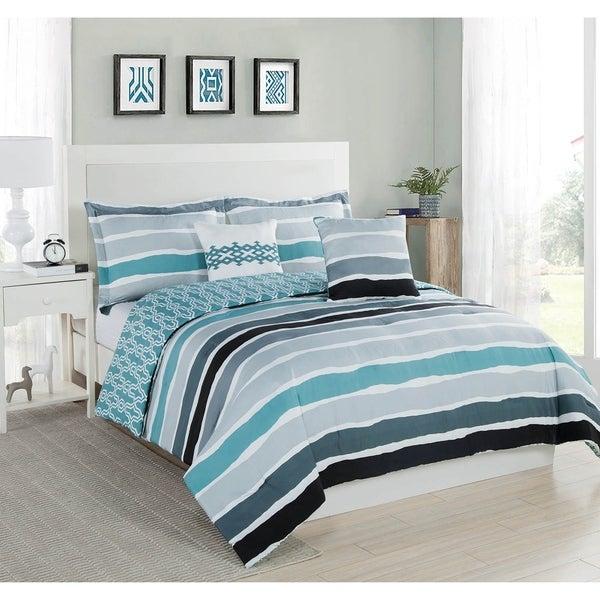 Studio 17 Tie Dye Stripe Comforter Set