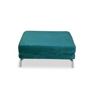 Kardiel Basil Modern Loft Premium Fabric/Stainless Steel Legs Ottoman