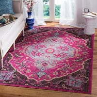 Safavieh Artisan Fuchsia Pink/ Anthracite Distressed Area Rug - 4' x 6'