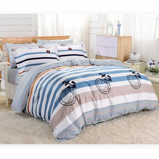 Dolce Mela Hatteras Cotton 6-piece Duvet Cover Set with Fitted Sheet