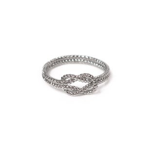 Eternally Haute Solid Sterling Silver Braided Love Knot Ring
