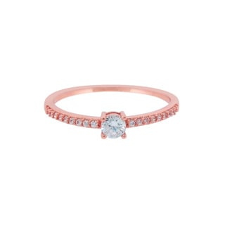 Eternally Haute Pave 'Stack Me Up' Stone Ring - Pink