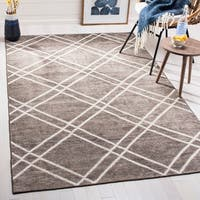 Safavieh Stone Wash Contemporary Hand-Knotted Dark Grey Wool Rug (5' x 8')