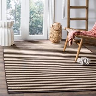 Safavieh Four Seasons Contemporary Stripe Ivory / Brown Rug (8' x 10')