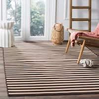 Safavieh Four Seasons Contemporary Stripe Ivory / Brown Rug - 8' x 10'