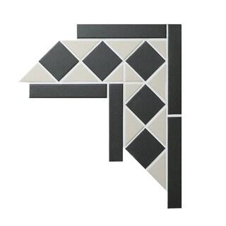 Square and Triangle Unglazed Corner Tile (Box of 10)