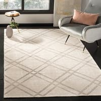 Safavieh Stone Wash Contemporary Hand-Knotted Khaki / Grey Wool Rug - 8' x 10'