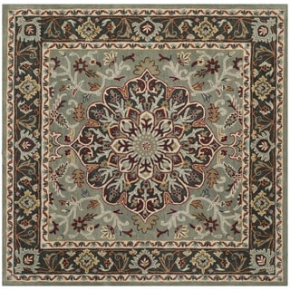 Safavieh Heritage Hand-Woven Wool Grey / Charcoal Area Rug (6' Square)
