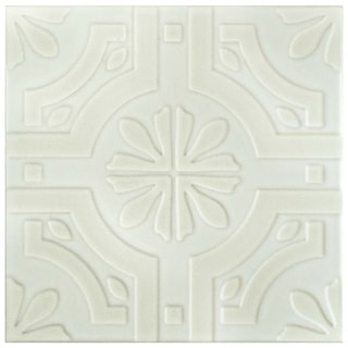 SomerTile 7.75x7.75-inch Triple Real White Ceramic Floor and Wall Tile (25/Case, 11.11 sqft.)