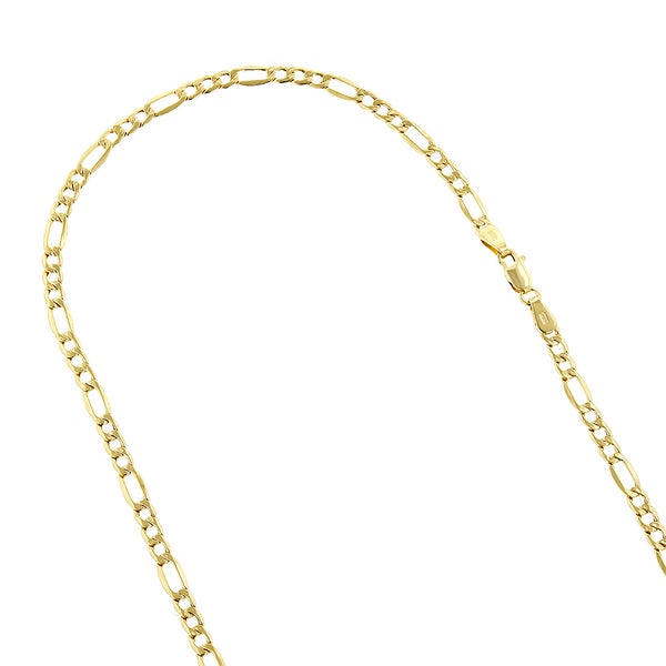 """10K Yellow Gold Rope Ultra Light Hollow Chain Necklace Bracelet 2mm 4mm 7/""""-30/"""""""