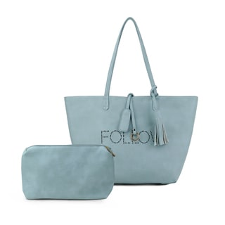 Olivia Miller 'Follow' Perforated Tote Bag with Accessories Bag