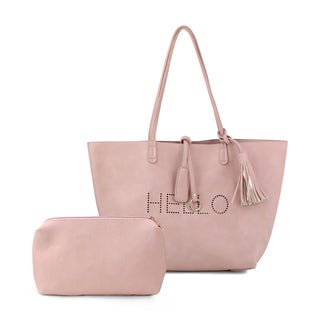 Olivia Miller 'Hello' Perforated Tote Bag with Accessories Bag