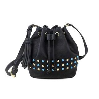 Olivia Miller 'Braelyn' Multi Studded Bucket Crossbody Handbag
