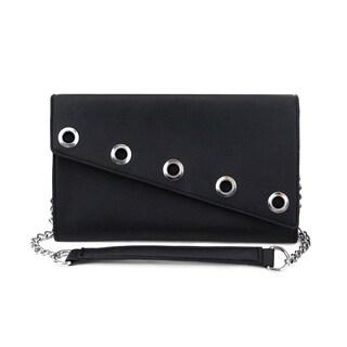 Olivia Miller 'Gene' Large Faux Leather Grommet Crossbody Clutch Handbag