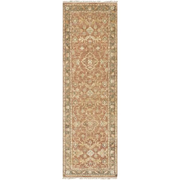 Hand-Knotted Abuiram Wool Rug-(2'6 x 8')