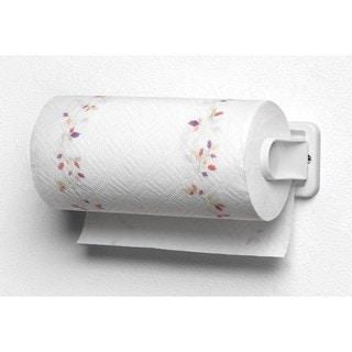 White Plstic Wall Mount Folding Paper Towel Holder