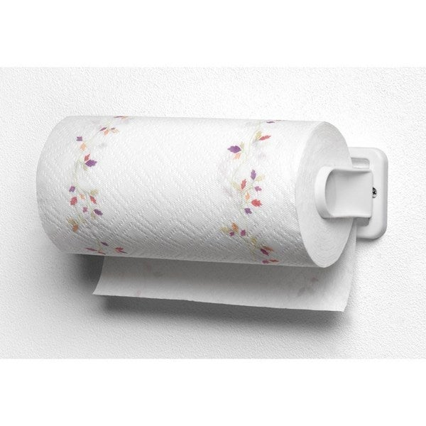 White Plstic Wall Mount Folding Paper Towel Holder