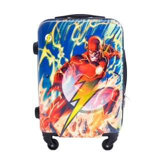 DC Comics Flash 21-inch Hardside Carry On Spinner Upright Suitcase