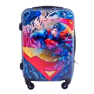 DC Comics Superman 21-inch Hardside Carry On Spinner Upright Suitcase