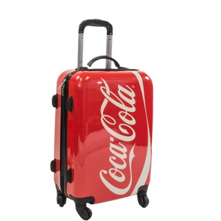 Coca Cola 21-inch Hardside Carry On Spinner Upright Suitcase