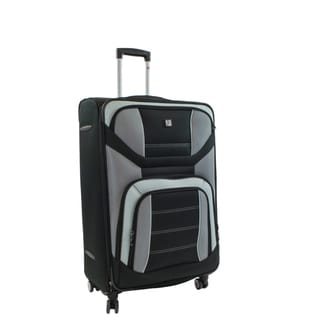 Ful Airways 25-inch Black and Grey Spinner Upright Suitcase