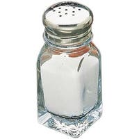 Tablecraft Glass 2-ounce Square Salt and Pepper Shakers