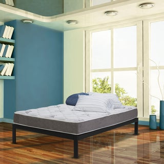 Wolf Natural Comfort Firm Innerspring 9-inch Queen-size Mattress and Platform Set