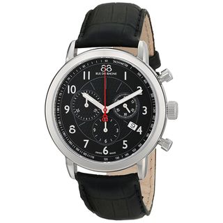 88 Rue du Rhone Men's 87WA120047 'Double 8 Origin' Chronograph Black Leather Watch