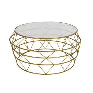Studio Goldtone Metal Coffee Table
