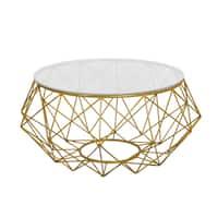 Diamond Goldtone Metal Coffee Table