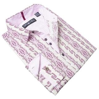 Lennon and McCartney Men's 'Blackbird' Purple Cotton Shirt