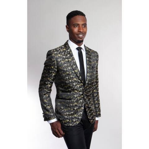 Tazio Men's Polyester 1-button Jacket