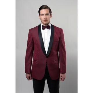 Tazio Men's Burgundy 1-Button Blazer