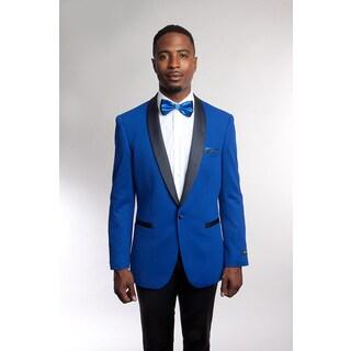 Tazio Men's Blue Bespoke Blazer