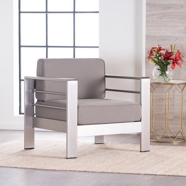 Salome Modern Fabric Club Chair by Christopher Knight Home. Opens flyout.