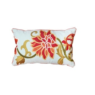 Cabana Embroidered Lumbar Throw Pillow Cover (Cover Only - Unfilled)