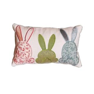 Cabana Bunny Love Lumbar Throw Pillow Cover