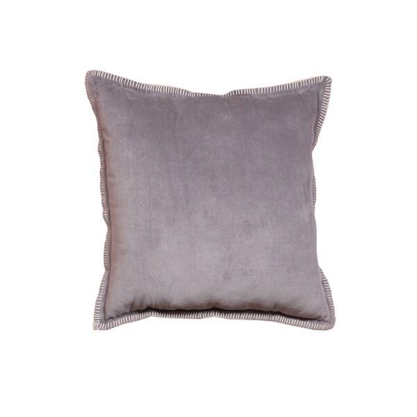 Intradeglobal's Cabana Cotton Light Gray Throw Pillow (Set of 2) Solid color cushion/Pillow