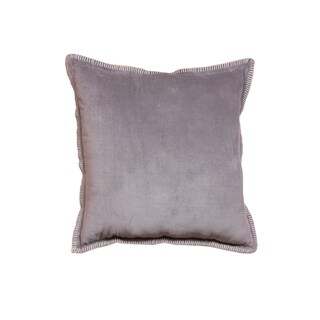 Cabana Cotton Velvet Light Gray Throw Pillow (Set of 2)