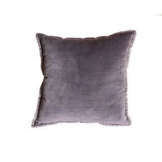 Cabana Grey Cotton Velvet Throw Pillow (Set of 2)