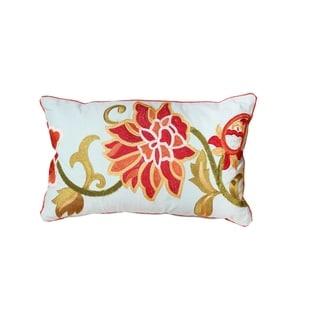 Cabana Embroidered Lumbar Throw Pillow (Set of 2)