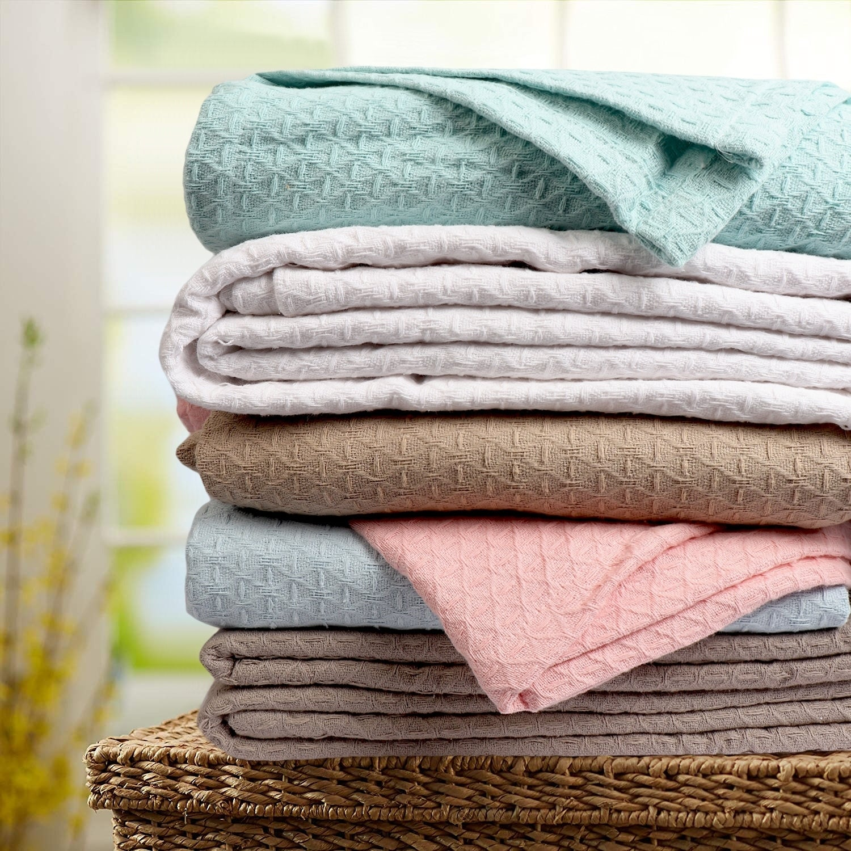Classic All Seasons Super Soft Lightweight Cotton Blanket Overstock 14694359