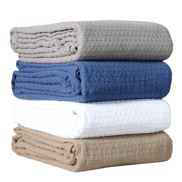 Classic All Seasons Super Soft Lightweight Cotton Blanket with Bonus Cabinet Knobs