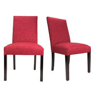 Key Largo Ruby Red Roll-Back Upholstered Dining Chairs (Set of 2)