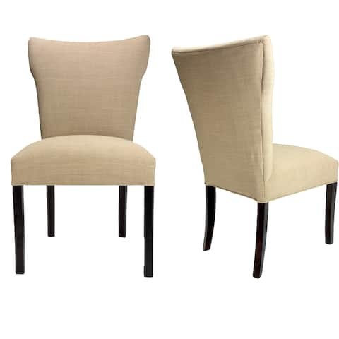 Bella Allure Pebble Espresso Legs Upholstered Dining Chairs (Set of 2)