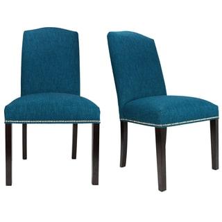 Key Largo Zenith Nailhead Trim Upholstered Dining Chairs (Set of 2)