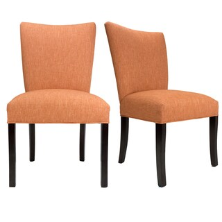Julia Key Largo Espresso Wooden Legs Upholstered Dining Chairs (Set of 2)
