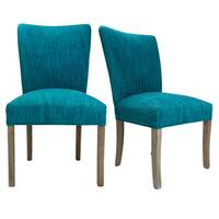 Julia Lucky Walnut Legs Upholstered Dining Chairs (Set of 2)