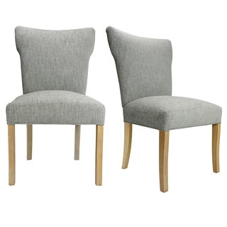 Bella Natural Wood Legs Lucky Upholstered Dining Chairs (Set of 2)